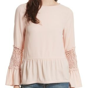 JOIE Emelda Blush Peach Top NEW M